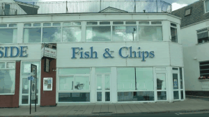 fish and chips canvas