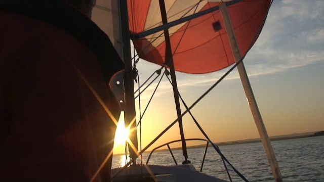 spinnaker sunset